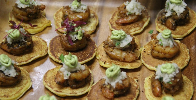 Spicy Houma shrimp with jicama slaw and avocado creme. Photo by Elizabeth Hoover