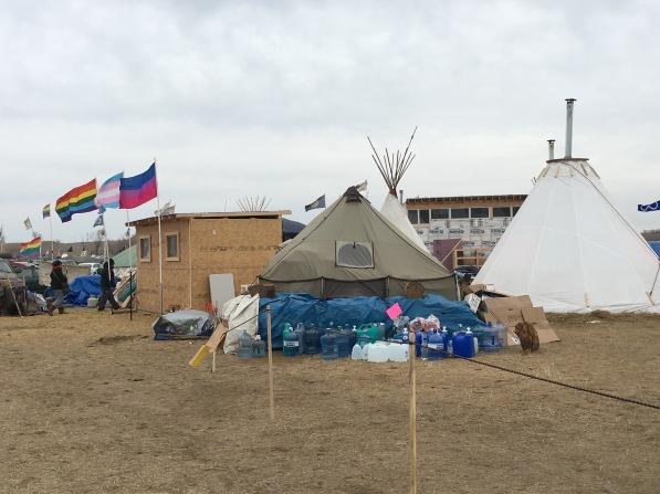 Two Spirit camp kitchen